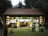 夕方の山神社